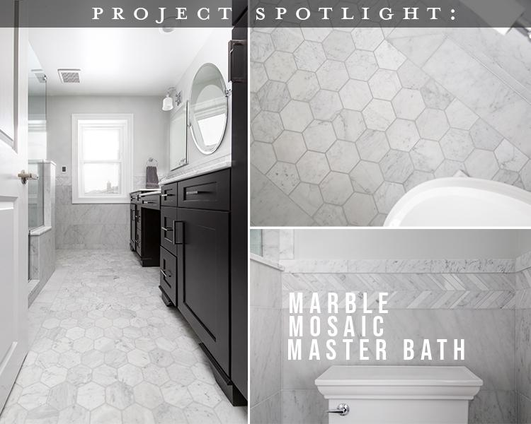 Project Spotlight: Marble Mosaic Master Bath