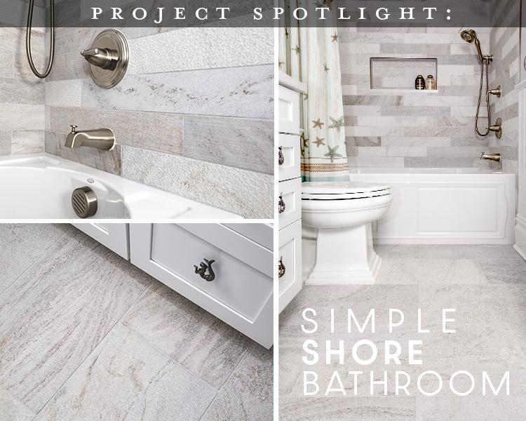 Project Spotlight: Simple Shore Bathroom