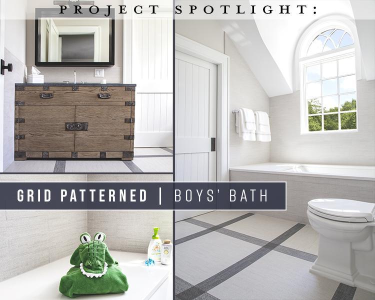Project Spotlight: Grid Patterned Boys' Bath