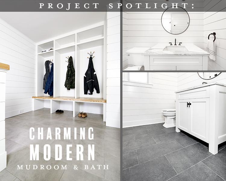 Project Spotlight: Charming Modern Mudroom & Bath