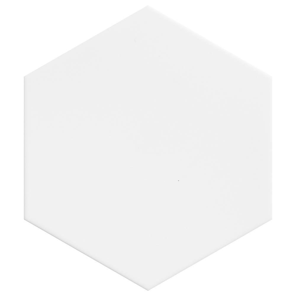 Plain Hexagon White Moon