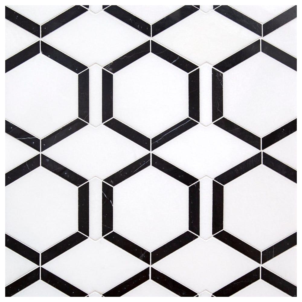 Halo Thassos Black Lines